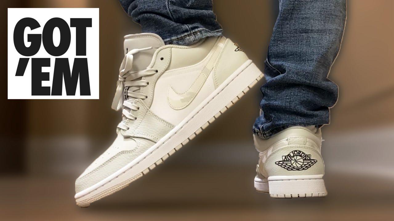 The BEST Winter Sneaker? Jordan 1 Low WHITE CAMO On Feet!
