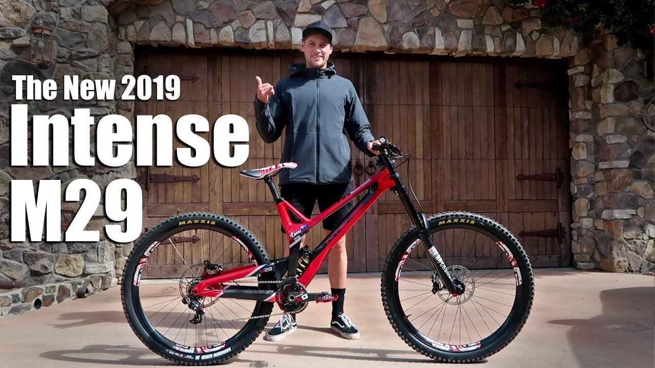 e3c7b4fc627 THE NEW 2019 INTENSE M29 DOWNHILL BIKE - YouTube