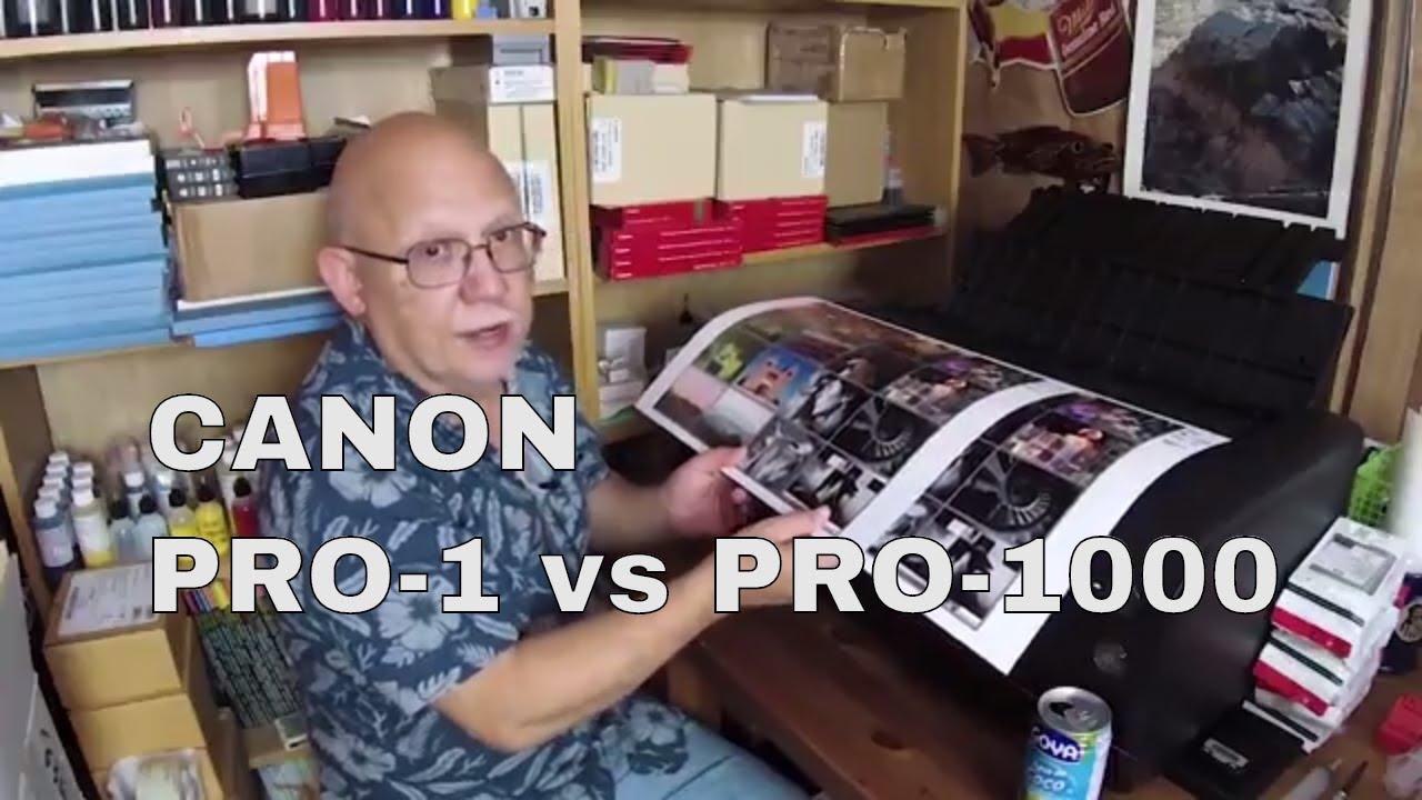 CANON Pro 1 vs Pro 1000 Print Output