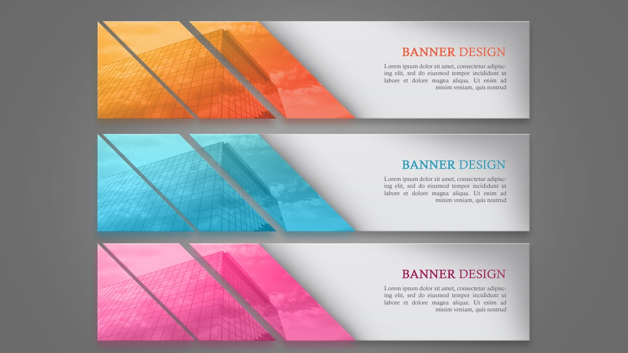 designing a simple web banner in photoshop  youtube