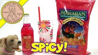 "Hawaiian Mango Habanero Potato Chips & Prickly Pear Soda - ""love Bug Butch"""