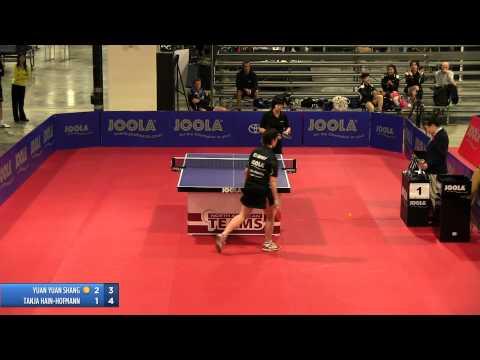 2013 JOOLA/NATT Teams Preliminary Round Robin: Yuan Yuan Shang vs Tanja Kramer