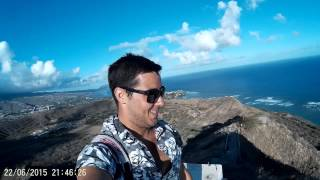 Very top of Diamond Head, Honolulu, Hawai