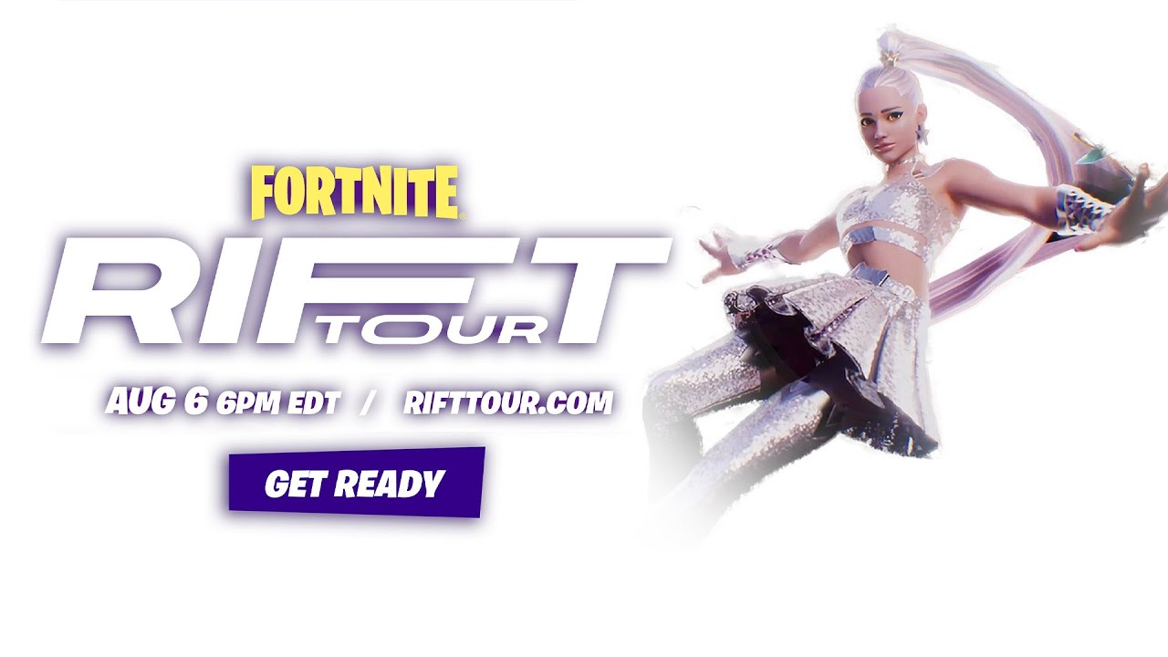 Fortnite RIFT Tour Event Trailer and Ariana Grande Skin first look #SHORTS