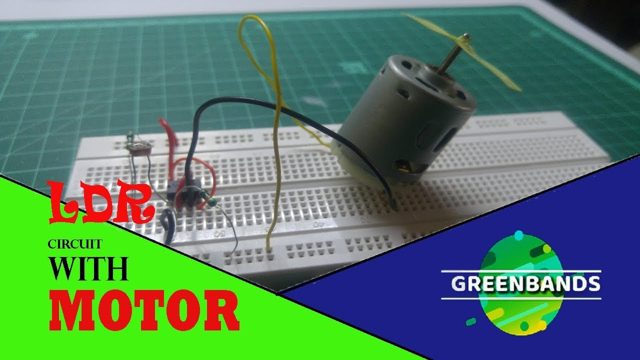 HOW to make a Simple LDR circuit running Motor with full speed - YouTube