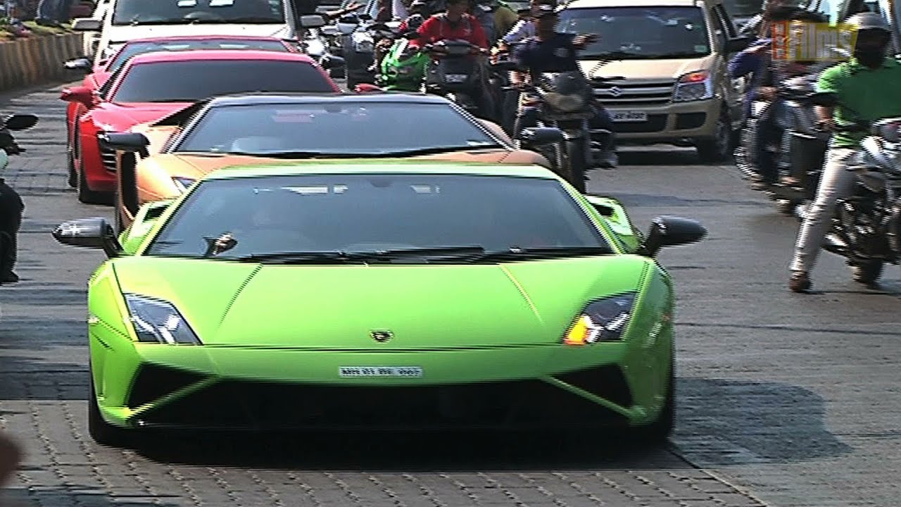Parx Super Car Rally In Mumbai Youtube