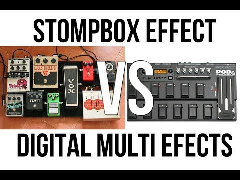 [HD] Efek Gitar Stompbox (Analog) VS Efek Digital (Multi Efek) Full