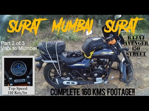 Ride from Vapi to Mumbai (Part 2/3) - 160 kms on Bajaj Avenger 150 Street