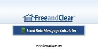 fixed interest home loan calculator