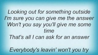 Air Supply - Looking Out For Something Outside Lyrics