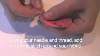 Craft projects - how to make fabric buttons - brilliant buttons