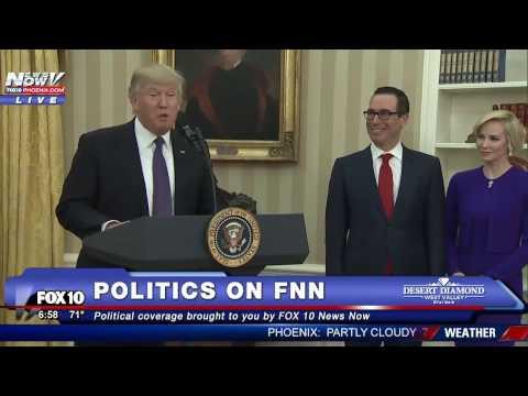 WATCH: Donald Trump Speaks Before Steven Mnuchin is Sworn in As Secretary of Treasury (FNN)