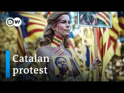 Catalan protest: Peaceful protest in Barcelona ends in violence | DW News