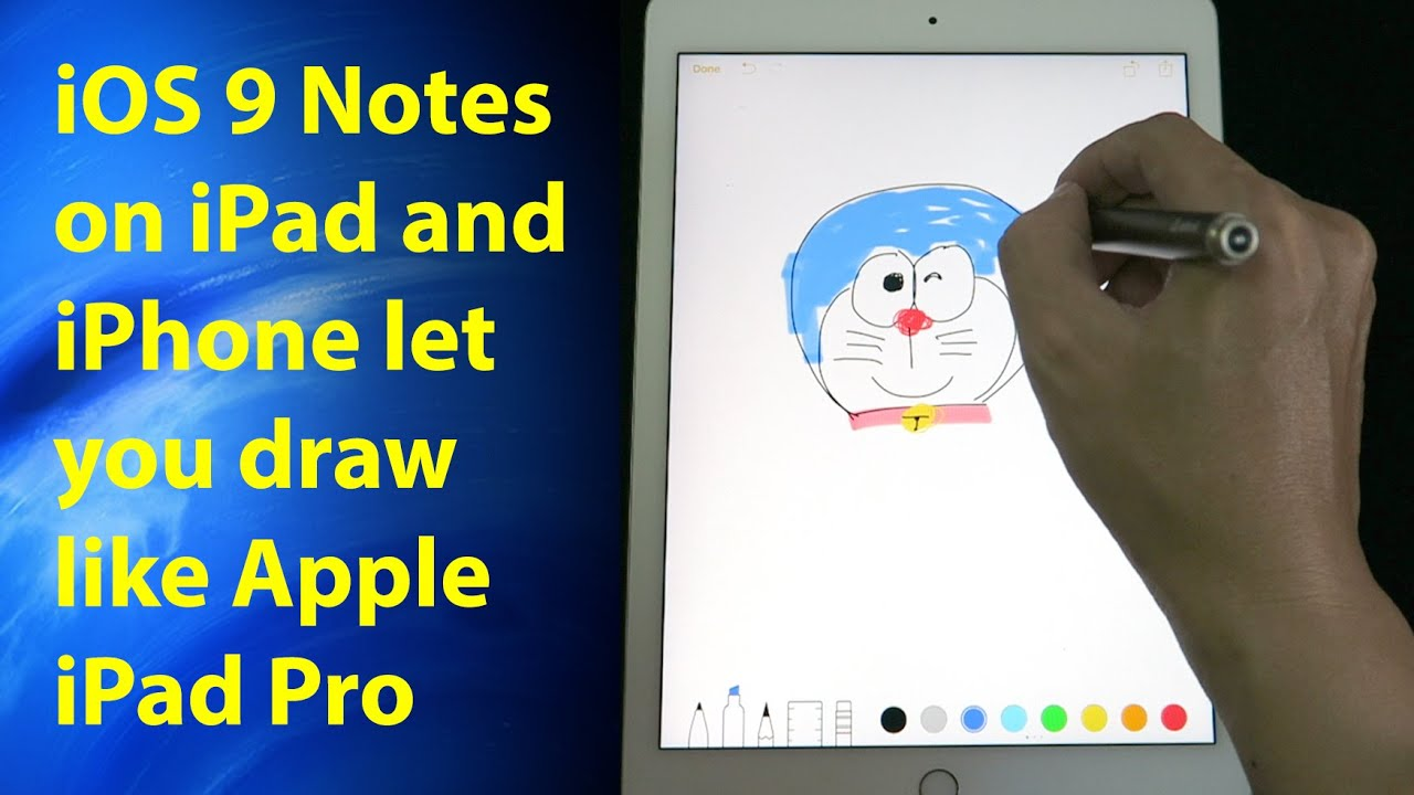 IOS 9 Notes On IPad Amp IPhone Let You Draw And Sketch Like Apple IPad Pro