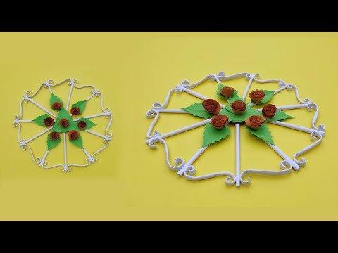 DIY Wall Hanging Ideas | Paper Flower Wall Hanging | DIY Paper Craft