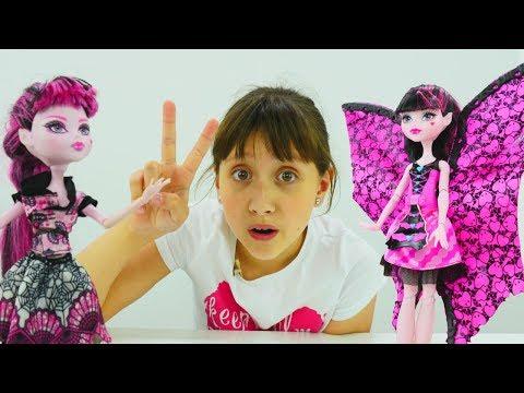 Мультики для девочек: #МонстерХай Дракулаура НОВЫЙ Стиль! 💄 Распаковка #КуклыХай 👸 Игры для детей