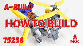 How to build military helicopter LEGO 75258 alternative build tutorial (A MOC)