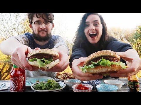 WATCH US EAT BURGER & CHIPS | MUKBANG Q&A