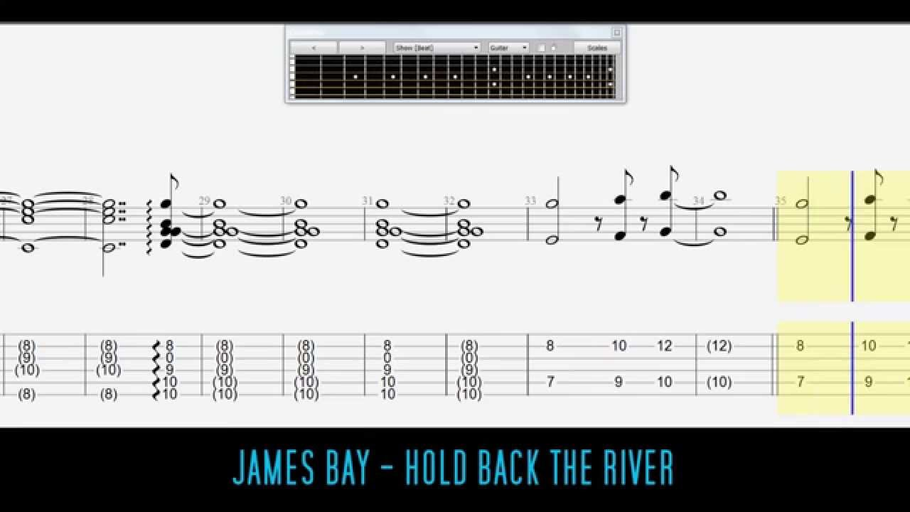 James Bay Hold Back The River Easy Guitar Tabs