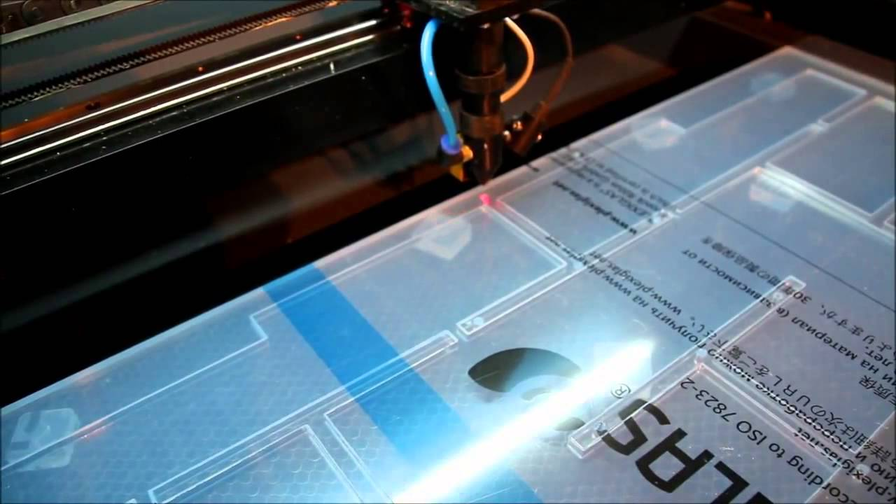 23 02 2013 Découpe laser plexiglas - YouTube