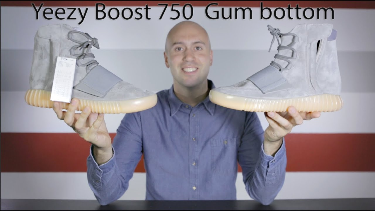 91dccbb1d1c3d Yeezy Boost 750 Gum bottom - Unboxing + Review + Glow Test + On Feet +  Close up - Mr Stoltz 2016