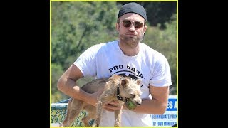 Robert Pattinson Takes His Pet Pooch to the Dog Park