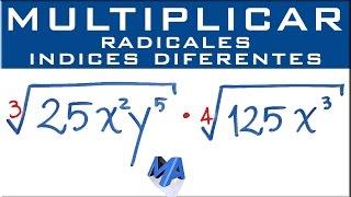 Multiplicación de radicales de diferente indice | Ejemplo 1 thumbnail