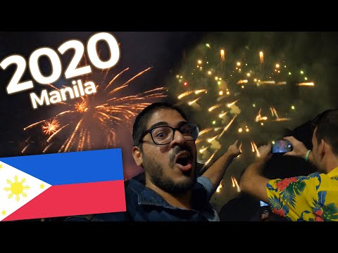 2020 NEW YEAR in the PHILIPPINES  Manila Rizal Park