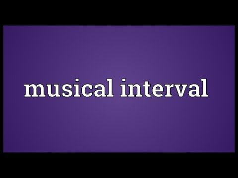 Musical interval Meaning