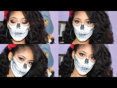 Halloween Makeup: Beauty Half Skull thumbnail