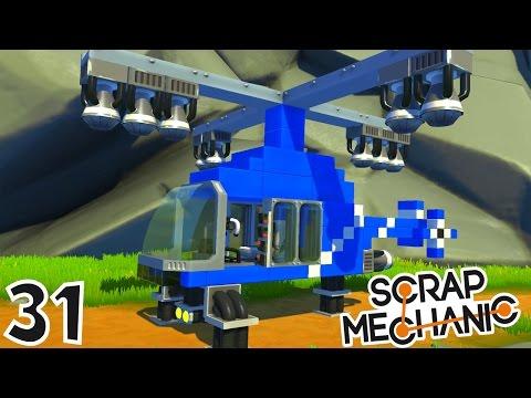 CONSTRUCTION D'UN HÉLICOPTÈRE ! | Scrap Mechanic ! #Ep31