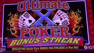 Ultimate X Poker Bonus Streak $7.5 a pull! Let's see some electronic cards!