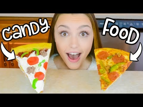 Making FOOD Out of CANDY! Food vs Candy Challenge!!