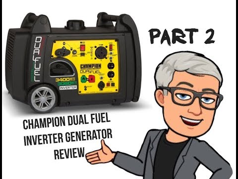 Part 2 Of My Review Champion Dual Fuel Inverter Generator