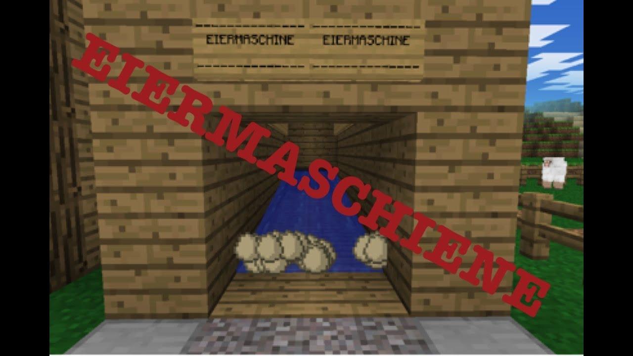 Minecraft PE Wie Baut Man Eine Eiermaschiene YouTube - Minecraft pe hauser zum nachbauen