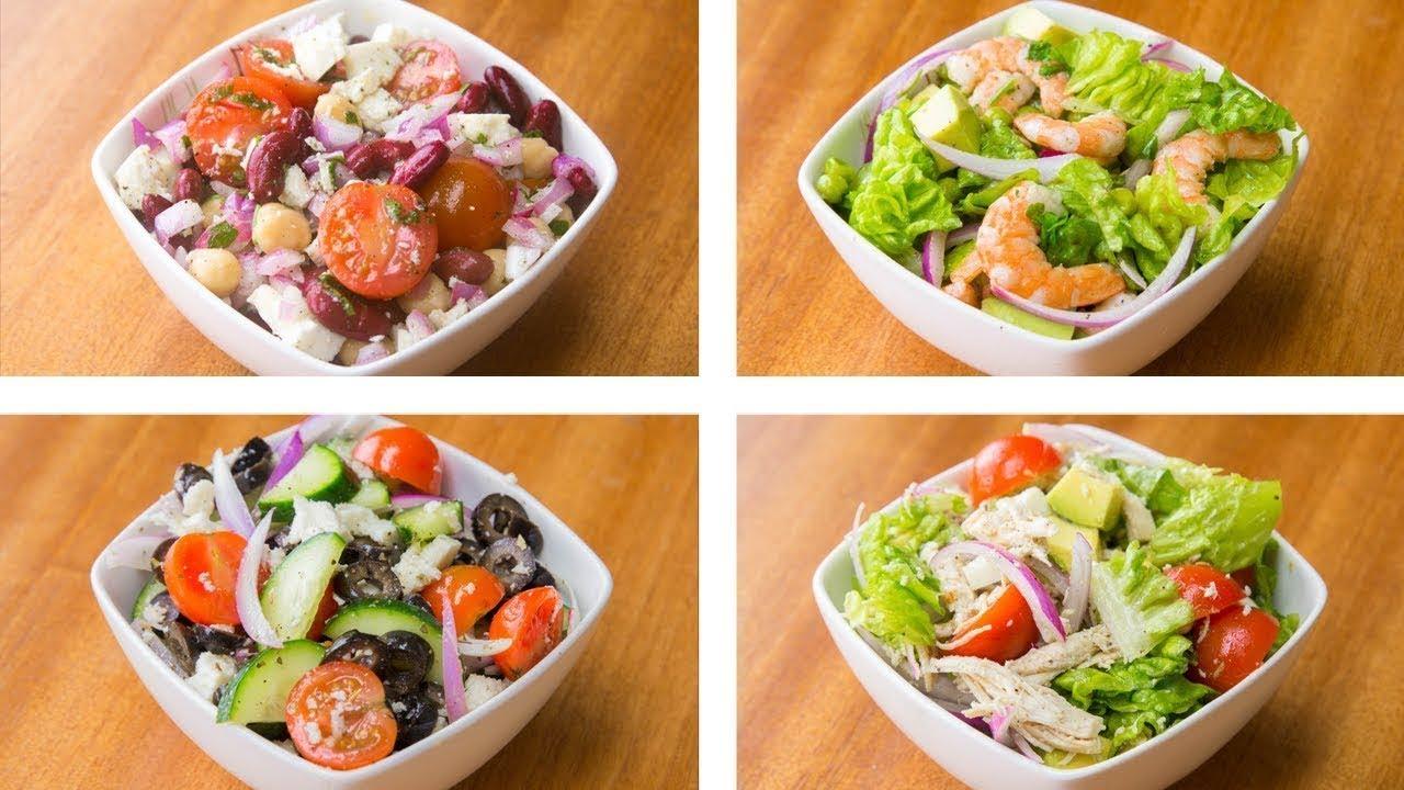 5 Recetas de Ensaladas Para Bajar de Peso (Saludables & Fáciles)