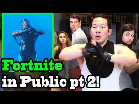 FORTNITE DANCES IN PUBLIC! (Season 4) IN REAL LIFE Challenge!!