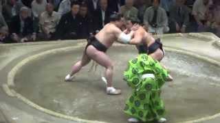 20150521 大相撲夏場所12日目 妙義龍vs日馬富士 横綱相次いで土.