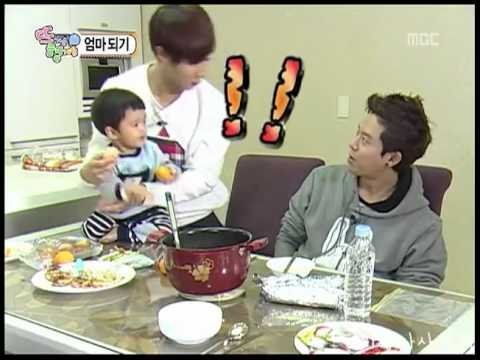 B2ST Kikwang & Tony with a baby