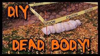 How To Make A Fake Dead Body | HALLOWEEN DECORATION! 📍 How To With Kristin