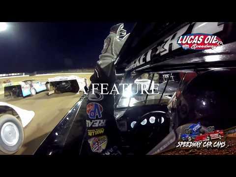 #19 Ryan Gustin - MLRA Late Model - 10-13-19 Lucas Oil Speedway - In-Car Camera
