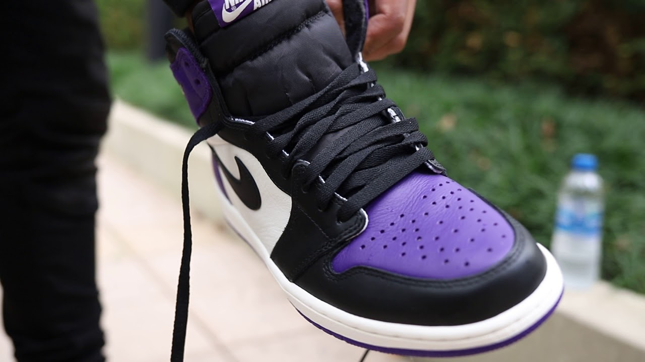 "e8ef36e1655 Air Jordan 1 Retro High OG ""Court Purple"" (Dope or Nope) + On Foot ..."