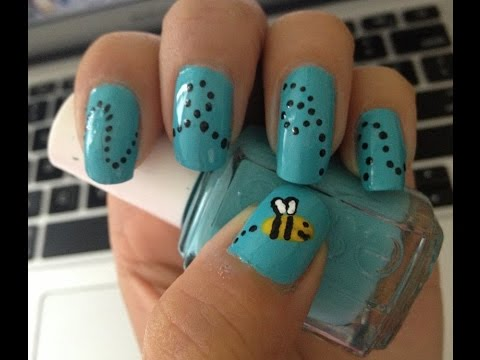 Bumble bee nail art nails with sarah youtube bumble bee nail art nails with sarah prinsesfo Image collections
