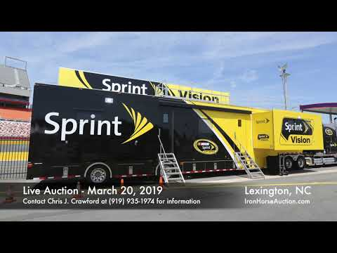 NASCAR Race Cars, Show Cars, Vision Big Screen Trailer