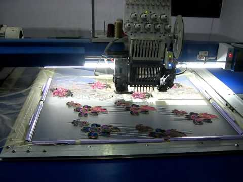 One Head Six Niddle Computerised Embroidery Machine Youtube