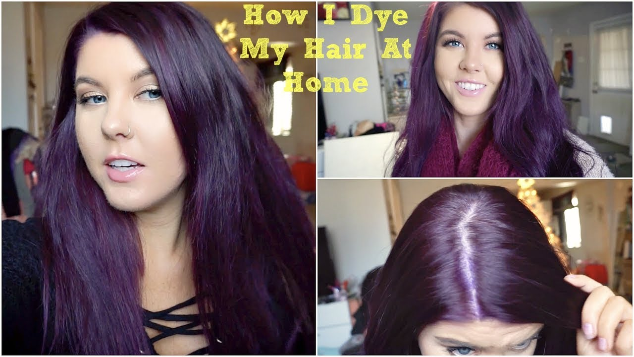 How To Dye My Hair Purple Without Bleach | Hairstyle ...