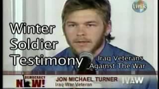 Jon Michael Turner, Abd'nin Irak Vahşetini İtiraf Ediyor ve Madalyalarını, 🌟 larını fırlatıp atıyor