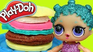 LOL Surprise Glitter • Błyszczący hamburger • Play Doh • DIY