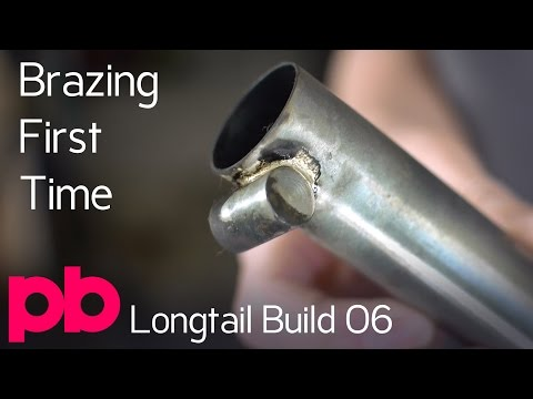Longtail Bicycle Frame Build 06 - Silver Brazing Seat Tube Binder With MAPP Gas