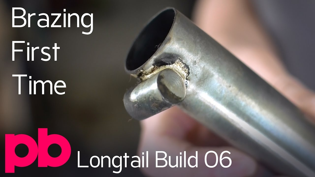 Longtail Bicycle Frame Build 06 - Silver Brazing Seat Tube Binder ...